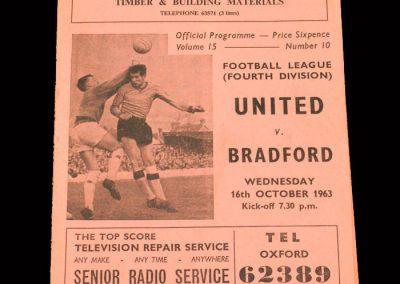 Bradford PA v Oxford 16.10.1963