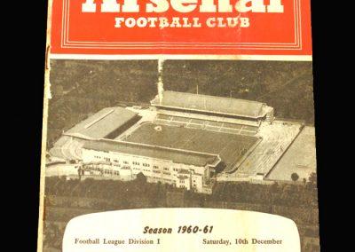 Arsenal v Bolton 10.12.1960