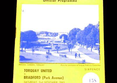 Bradford PA v Torquay 02.11.1963