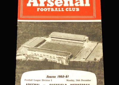 Arsenal v Sheff Wed 26.12.1960