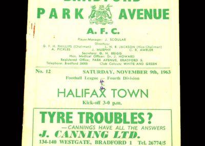 Bradford PA v Halifax 09.11.1963