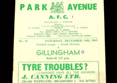 Bradford PA v Gillingham 14.12.1963