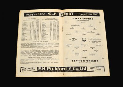 Derby v Leyton Orient 21.01.1961