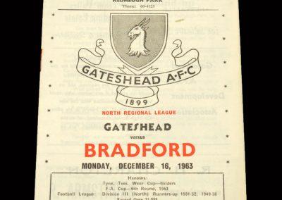 Bradford PA Reserves v Gateshead Reserves 16.12.1963