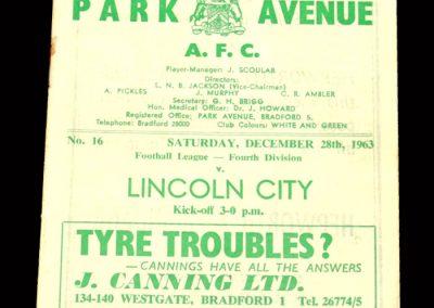 Bradford PA v Lincoln 28.12.1963