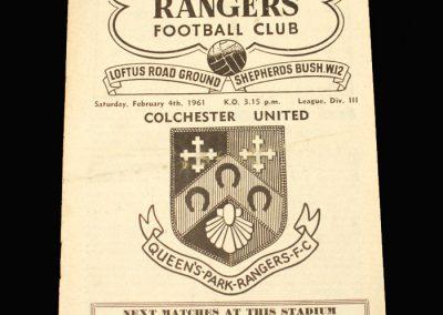 QPR v Colchester 04.02.1961
