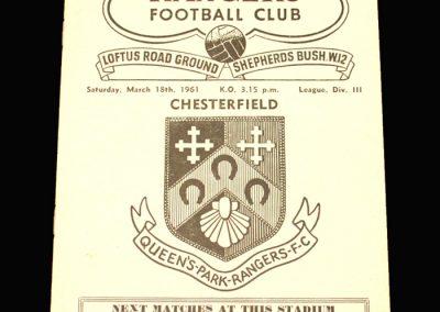 QPR v Chesterfield 18.03.1961
