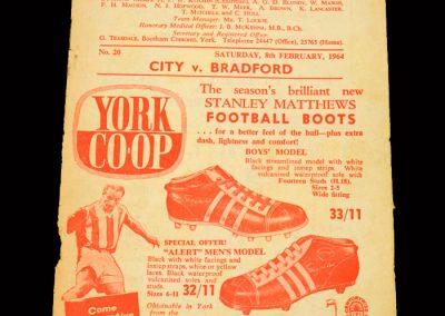 Bradford PA v York 08.02.1964