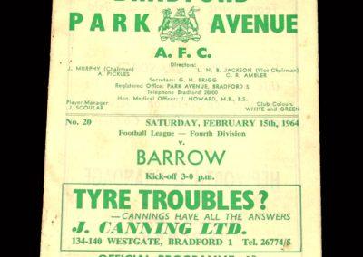 Bradford PA v Barrow 15.02.1964