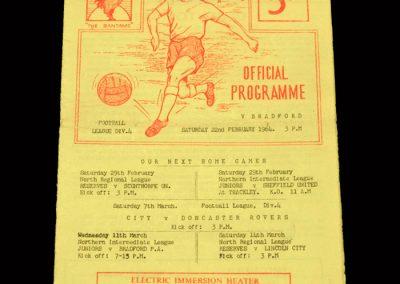 Bradford PA v Bradford City 22.02.1964