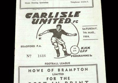 Bradford PA v Carlisle 07.03.1964