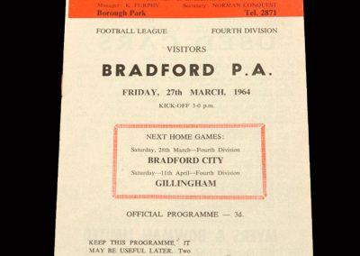 Bradford PA v Workington 27.03.1964