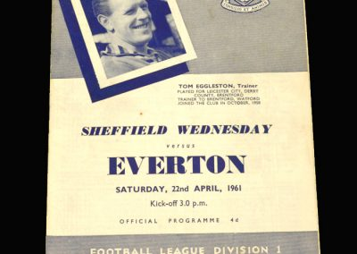 Sheff Wed v Everton 22.04.1961