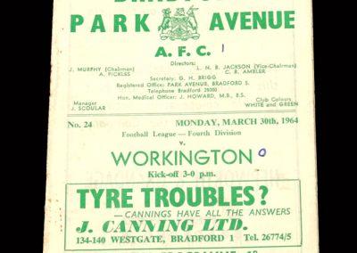 Bradford PA v Workington 30.03.1964