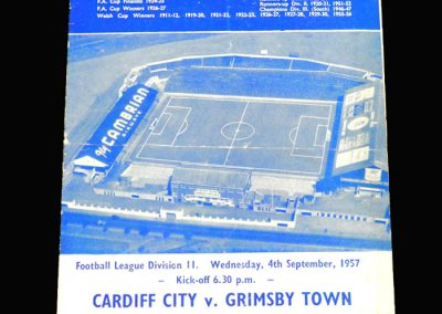 Cardiff v Grimsby 04.09.1957