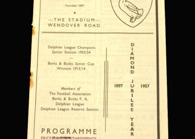 Aylesbury v Oxford 14.09.1957
