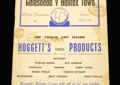 Gateshead v Halifax 16.09.1957