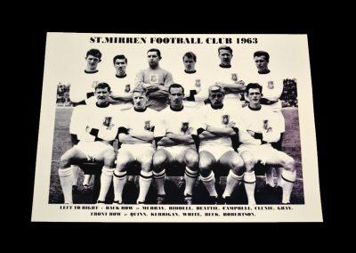 St Mirren Team Photo 1963-1964