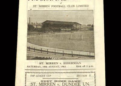 St Mirren v Hibs 10.08.1963 - League Cup
