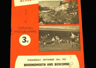Bournemouth v Coventry 18.09.1957