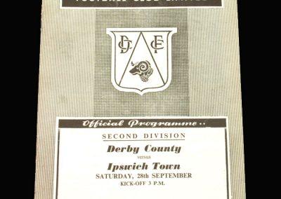 Derby v Ipswich 28.09.1957