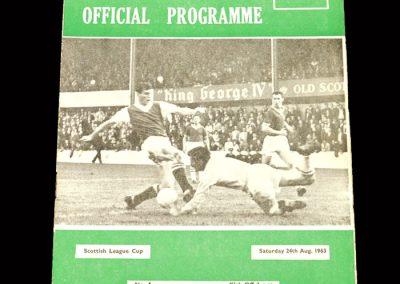 St Mirren v Hibs 24.08.1963 - League Cup