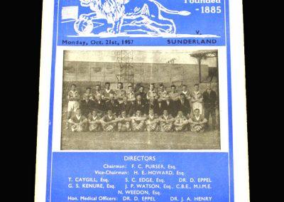 Millwall v Sunderland 21.10.1957