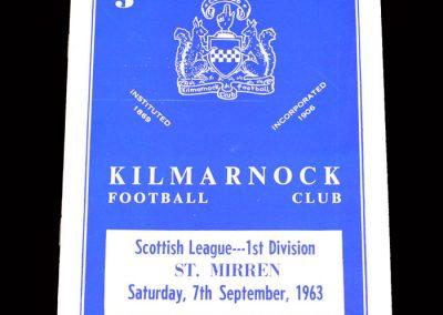 St Mirren v Kilmarnock 07.09.1963