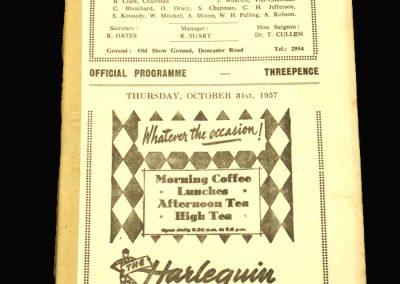 Scunthorpe v Halifax 31.10.1957
