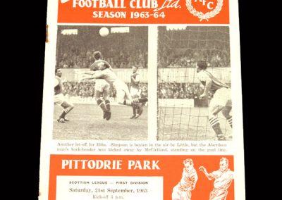 St Mirren v Aberdeen 21.09.1963