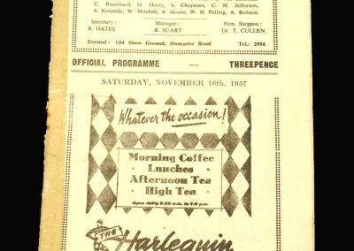 Scunthorpe v Goole 16.11.1957 (FA Cup 1st Round)