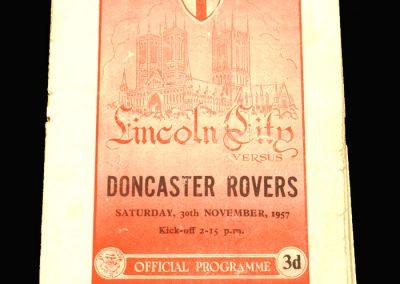 Lincoln v Doncaster 30.11.1957