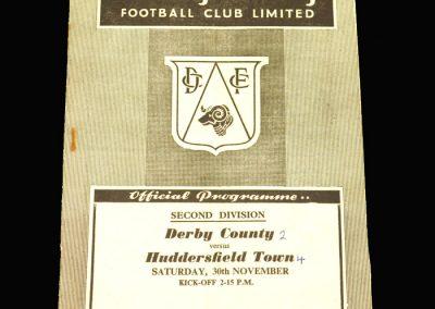 Derby v Huddersfield 30.11.1957