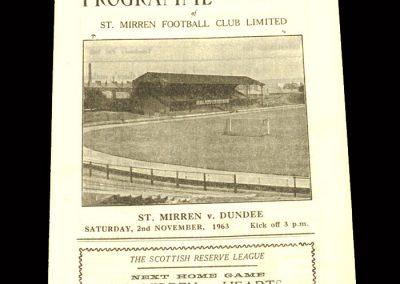 St Mirren v Dundee 02.11.1963