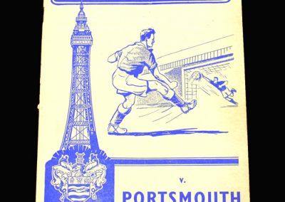 Blackpool v Portsmouth 30.11.1957