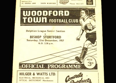 Woodford v Bishops Stortford 21.12.1957