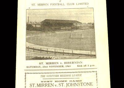 St Mirren v Hibs 23.11.1963