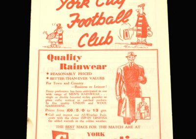 York v Hull 21.12.1957