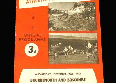 Bournemouth v Reading 25.12.1957