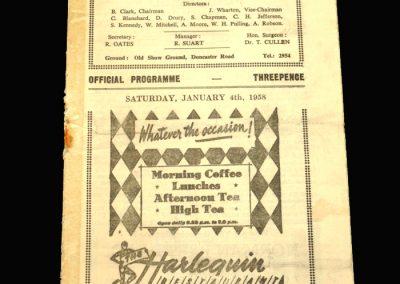 Scunthorpe v Bradford City 04.01.1958