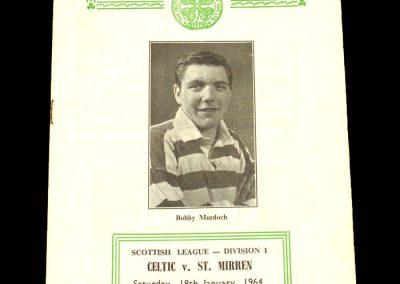 St Mirren v Celtic 18.01.1964