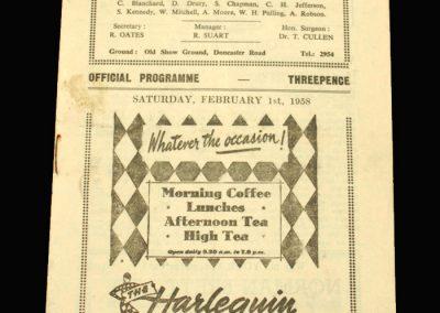 Scunthorpe v Workington 01.02.1958