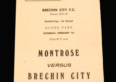 Brechin v Montrose 01.02.1958