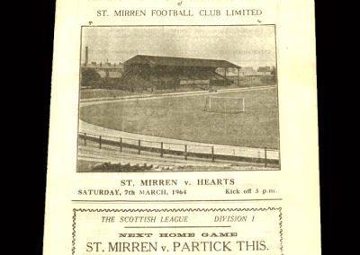 St Mirren v Hearts 07.03.1964