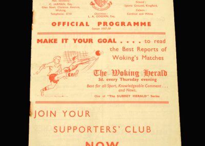 Woking v Hayes 08.02.1958 (FA Amateur Cup 3rd Round)