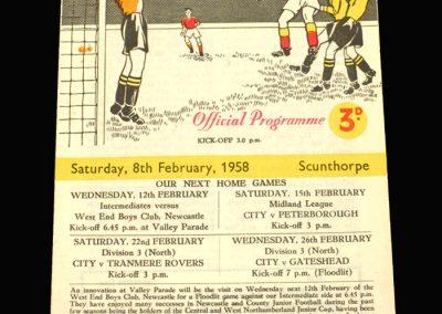 Bradford City v Scunthorpe 08.02.1958