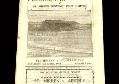 St Mirren v Dunfermline 04.04.1964