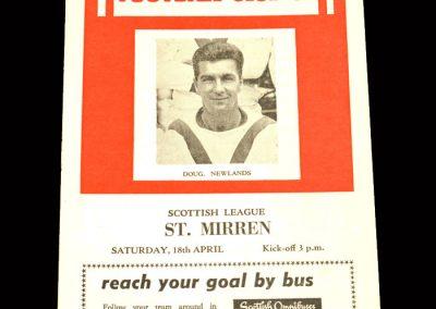 St Mirren v Airdrie 18.04.1964