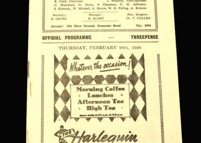 Scunthorpe v Hull 20.02.1958