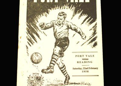 Port Vale v Reading 22.02.1958